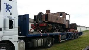 Arrivée de la locomotive à vapeur Frot