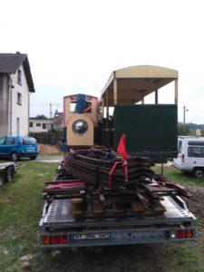 Récupération de matériel voie de 40 à Villepreux
